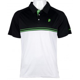 Prince Stripe Polo (white/black/green) męskie polo tenisowe