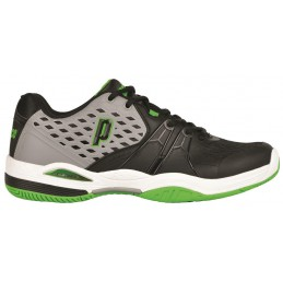 Prince Warrior CC buty tenisowe (Grey/Black/Green)