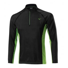 Mizuno Breath Thermo WindTop bluza do biegania black/green